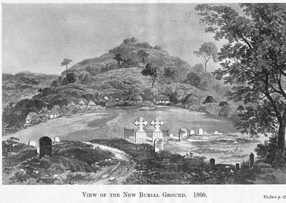 Circular Rd. Cemetery Freetown, circa 1860
