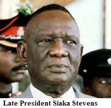 Late President Siaka Stevens