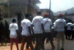 Demonstration by APC Kono youths