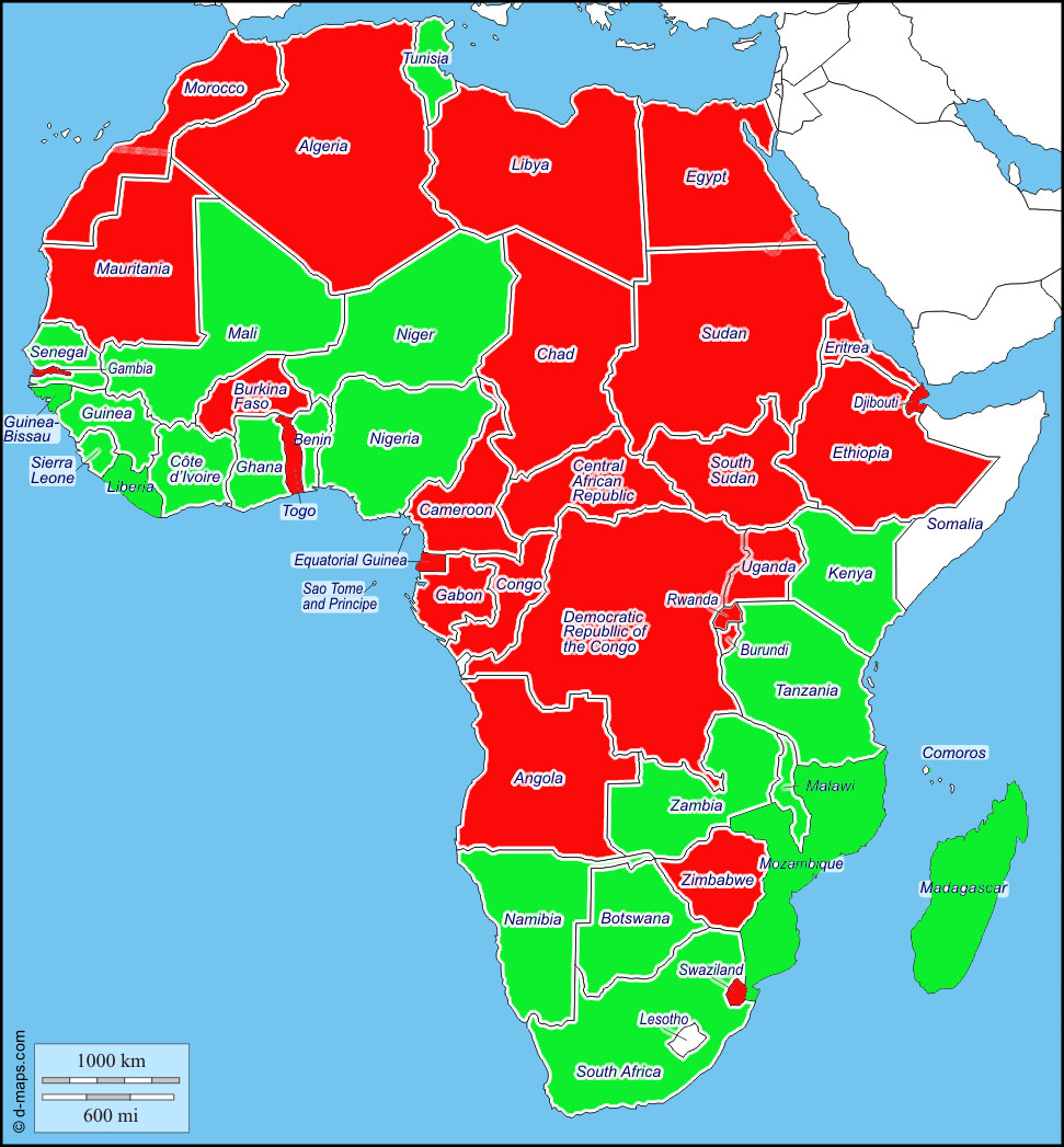 Africa Map 2015 2015 Africa Democracy Map